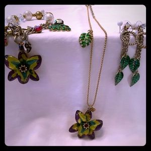 Betsey Johnson tropical orchid theme